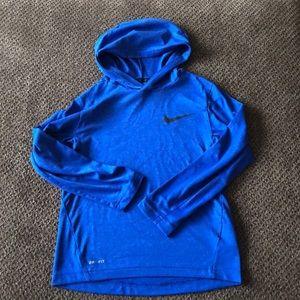 Boy's Nike Long-Sleeved Hooded T-shirt